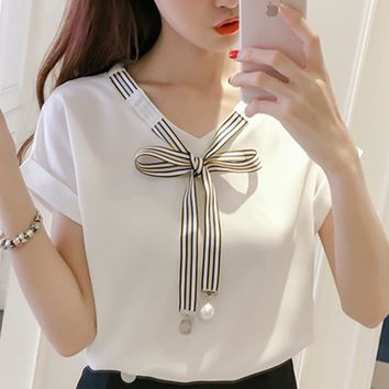 2018 Blouse Shirt Women's Korean  Style Fashion Clothing Summer Clothes For Women Tops And Blouses Female Clothes Stylish Ladies