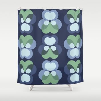MCM Pensie Shower Curtain by Lisa Jayne Murray - Illustration