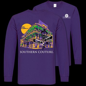 Southern Couture Classic Mardi Gras Hotel Long Sleeve T-Shirt
