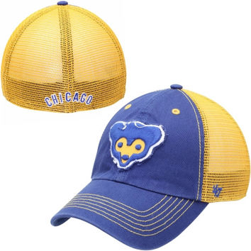 Chicago Cubs '47 Brand Taylor Cooperstown Collection Closer Flex Hat – Royal Blue/Light Blue