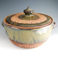Casserole with Lid - Casserole Dish with Cover - Handmade Pottery