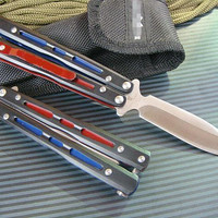 BM Butterfly BK32 knife Balisong tactical knife Single Edge Outdoor Tactical folding knife gift knife knives new in original box