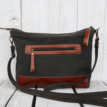 Tote bag Weekender bag Messenger bag Diaper bag canvas bag black rust two tone bag Macbook bag Laptop bag