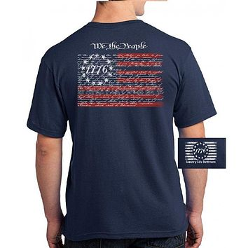 Country Life Outfitters Vintage USA American Flag We The People Unisex T-Shirt