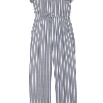 Mia Chica Stripe Off the Shoulder Jumpsuit (Big Girls) | Nordstrom