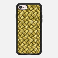 Patchwork Gold iPhone 7 Case by Alice Gosling | Casetify