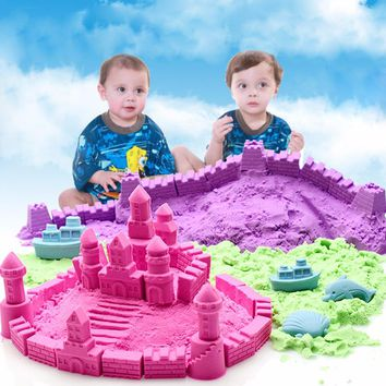 Creative Magic Kinetic Motion Dynamic DIY Dirt Sand Clay Indoor Craft Toy Creativty Mud 500g/bag Recreation Education Toy