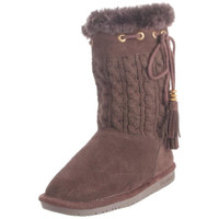 Bearpaw Womens Constantine Wool Suede Panel Winter Boots