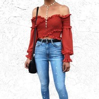 Sahara Smocked Off The Shoulder Top