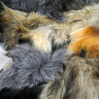 FOX and RACCOON Mixed Premium Fur Scraps MFR1185 Arktika Russia