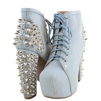 Jeffrey Campbell Lita Spike Denim