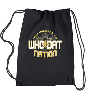 Who Dat Nation New Orleans (Color) Drawstring Backpack