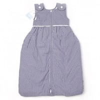 Blue Gingham Baby Lined Sleeping Bag with Buttons