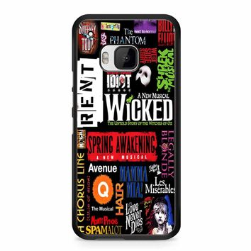 Famous Broadway Musiacal Plays Collage HTC M9 Case
