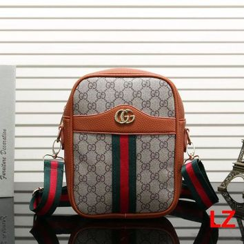 Gucci Fashion Women New Leather Satchel Bag Shoulder Bag Crossbody