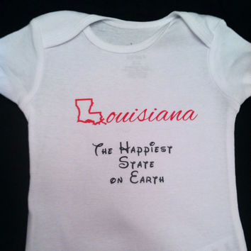 Louisiana The Happiest State hand made Onesuit