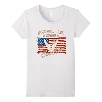 Proud US Army Cousin flag symbol Army T-shirt
