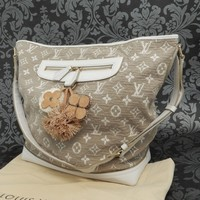 Rise-on LOUIS VUITTON MONOGRAM Sabbia Besace Beige Shoulder Bag Handbag #4