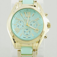 Timelessly Beautiful Watch in Mint from P.S. I Love You More Boutique