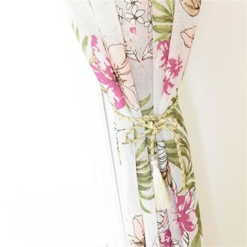New Country Style Flower Prints Window Curtain Sheer Drape Bedroom Decor Home Decoration