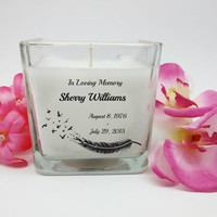 Memorial Candle, In Loving Memory, Personalized Candles, Memorial Gifts, Sympathy Gifts, Anniversary Candle, Unique Gift, Custom Gifts,