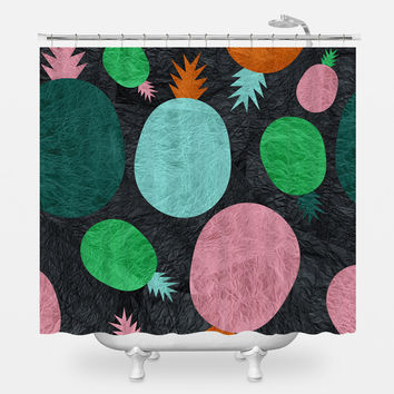 Pineapple Lovers Shower Curtain