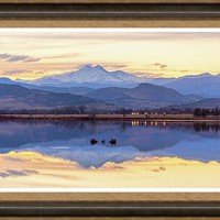 Golden View Framed Print