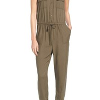 Caslon® Sleeveless Utility Jumpsuit (Regular & Petite) | Nordstrom