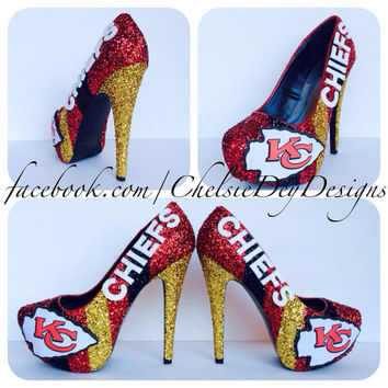 Kansas City Chiefs Glitter High Heels