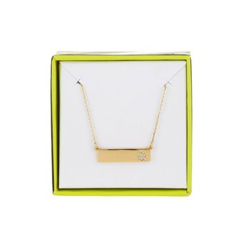 BaubleBar 14K Gold Plated Ice Bar Pendant Necklace, 'Q' or 'X' Initial