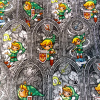 Zelda Fabric Link Fabric Gamer Fabric Legend of Zelda Quilt Fabric Apparel Fabric Craft Fabric Cotton Fabric Zelda Link