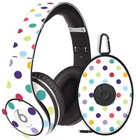 Polka Dot Explosion on White Skin for the Beats Studio Headphones & Case by skinzy.com