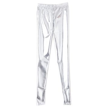 Shiny Metallic Leggings