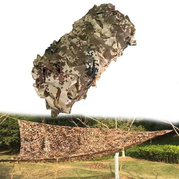Outdoor Military Desert Camouflage Netting Sun Shelter Hunting Tarps Camping Shelter Photography Background Decoration Net