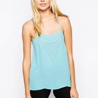 Vero Moda | Vero Moda Cami Top With Sequin Detail at ASOS