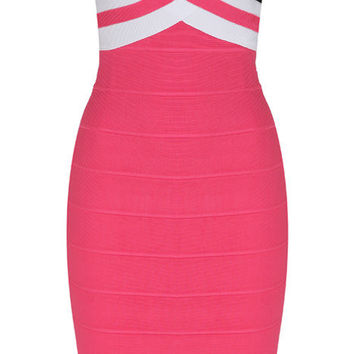 X Design Color Pop Bandage Dress