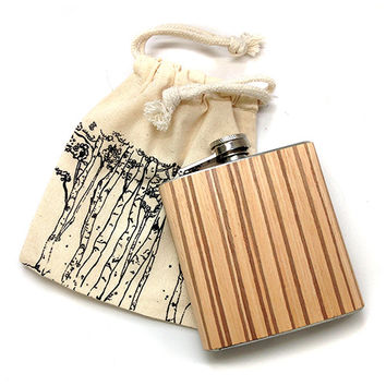 Zebra Wood Flask