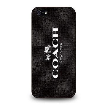 COACH NEW YORK SIGNATURE iPhone 5 / 5S / SE Case Cover