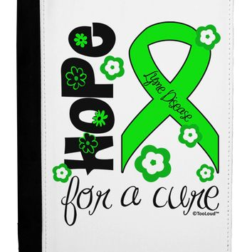 Hope for a Cure - Lime Green Ribbon Lyme Disease - Flowers Ipad Mini Fold Stand  Case by TooLoud