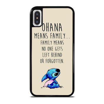 STITCH LILLO OHANA FAMILY QUOTES iPhone X Case Cover
