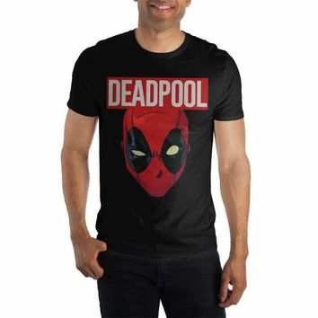 Marvel Comics Deadpool Movie Costume Face Men's Black T-Shirt