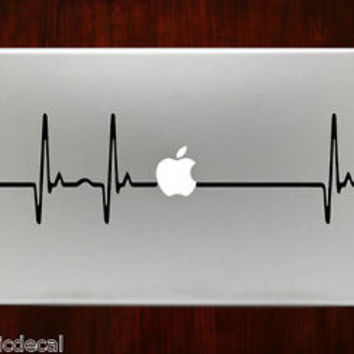 Heartbeat Pulse Heart Beat Cool Decals Stickers For Macbook 13 Pro Air Decal