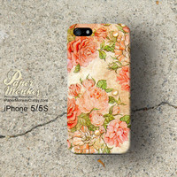 iPhone 5 case, iPhone 4 case, Decoupage case for iPhone : Antique Rose.