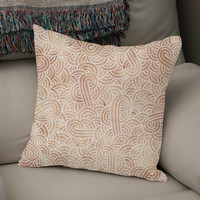 «Iced coffee and white swirls doodle», Numbered Edition Coussin by Savousepate - From 25€ - Curioos