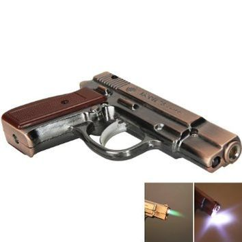 Stylish Pistol Shape Cigarette Lighter Copper