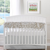 Taupe Suzani 4-pc. Crib Bedding Set