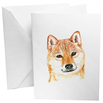 Shiba Dog Set of 12 Note Cards