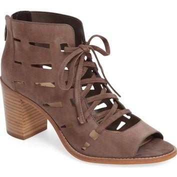 Vince Camuto Tressa Perforated Lace-Up Sandal (Women) | Nordstrom
