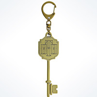 Disney Parks Hollywood Tower Hotel Logo Key Keychain New with Tags