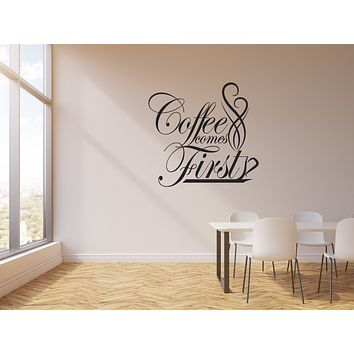 Vinyl Wall Decal Coffee Drink First Cup Interior Kitchen House Sticker Mural (g152)